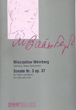 Sonate N° 3 Op. 37 Mieczyslaw Weinberg Partition Violon - laflutedepan