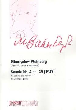 Sonate n° 4 Op. 39 - Violon et piano Mieczyslaw Weinberg laflutedepan