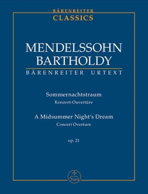 Sommernachtstraum, Opus 21 MENDELSSOHN Partition laflutedepan
