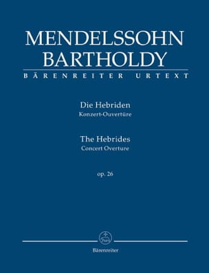 Die Hebriden Opus 26 MENDELSSOHN Partition Petit format - laflutedepan