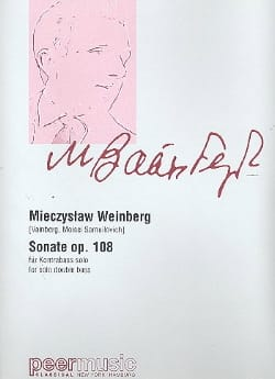 Mieczyslaw Weinberg - Sonate n° 1 Op. 108 - Contrebasse - Partition - di-arezzo.fr
