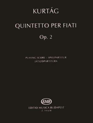 Wind Quintet Opus 2 KURTAG Partition Grand format - laflutedepan