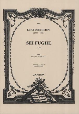 BOCCHERINI - Sei Fughe G73 for violoncelli - Sheet Music - di-arezzo.com