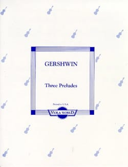 Three Preludes GERSHWIN Partition Alto - laflutedepan