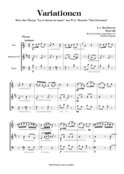 BEETHOVEN - Variations on La Ci Darem la Mano, WoO 28 - Trio of Reeds - Sheet Music - di-arezzo.co.uk