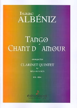 Tango, Chant D'amour ALBENIZ Partition Clarinette - laflutedepan