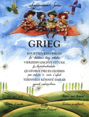 Edvard Grieg - 14 Easy Pieces For Children's String Orchestra - Partition - di-arezzo.fr