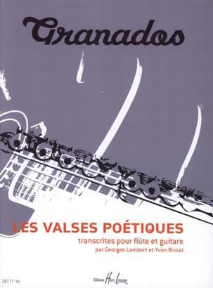 Les Valses Poétiques GRANADOS Partition Duos - laflutedepan