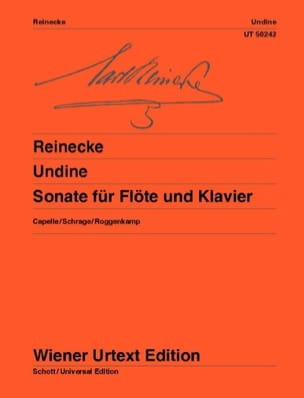 Carl Reinecke - Undine - Sonata for Flute and Piano - Sheet Music - di-arezzo.co.uk