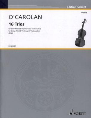 16 Trios Terence O'Carolan Partition Trios - laflutedepan