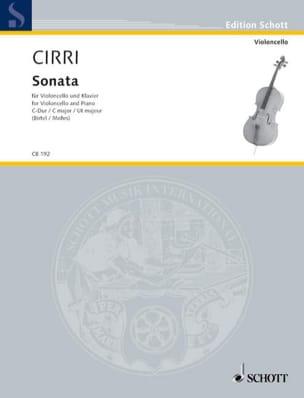 Giambattista Cirri - Sonata In Ut Maj. - Sheet Music - di-arezzo.com