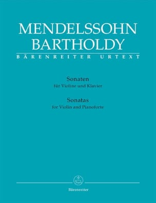 MENDELSSOHN - Sonatas for violin and piano - Sheet Music - di-arezzo.com