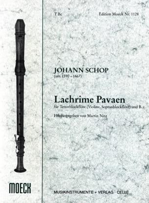 Lachrime Pavaen - Johann Schop - Partition - laflutedepan.com