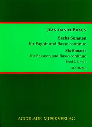 6 Sonaten Volume 2 Jean-Daniel Braun Partition Basson - laflutedepan