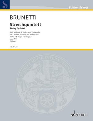 Gaetano Brunetti - Streichquintett Op.7 N°3 En Sib Maj. - Partition - di-arezzo.fr