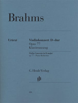 BRAHMS - Concerto in D Maj. Op. 77 - Sheet Music - di-arezzo.co.uk