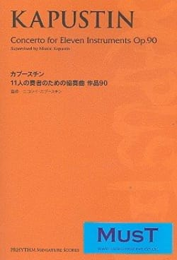 Nikolai Kapustin - Concerto For Eleven Instruments Opus 90 - Partition - di-arezzo.fr
