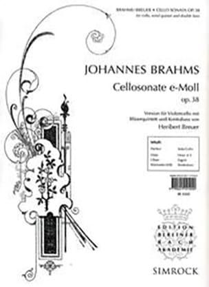 Sonate En Mi Min. Op.38 - BRAHMS - Partition - laflutedepan.com