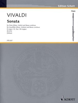 VIVALDI - Sonate En Ré Majeur Rv 810 - Partition - di-arezzo.fr