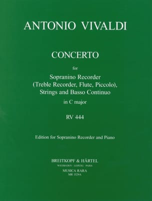 VIVALDI - Concerto Rv 444 en Do Majeur - Partition - di-arezzo.fr