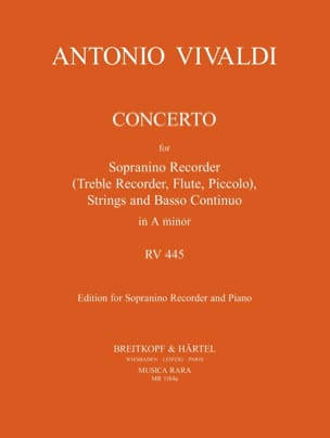 VIVALDI - Concerto Rv 445 in the Minor F 6 N ° 9 - Sheet Music - di-arezzo.co.uk