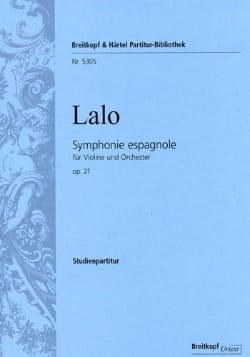 Edouard Lalo - Symphonie Espagnole Opus 21 - Partition - di-arezzo.fr