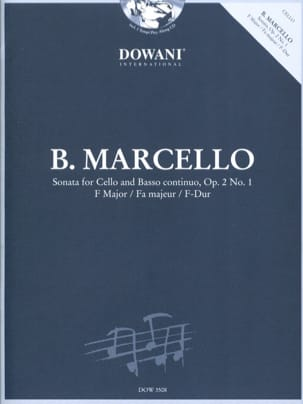 Sonate Op.2 N°1 En Fa Maj. Benedetto Marcello Partition laflutedepan