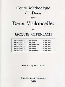 Jacques Offenbach - Methodical course of duets for 2 cellos - Sheet Music - di-arezzo.com