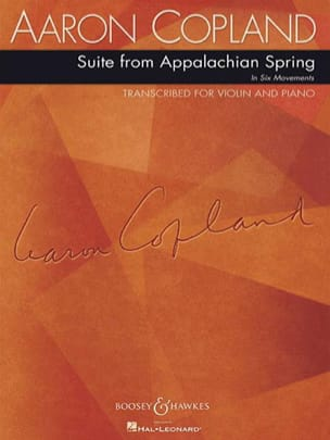 Aaron Copland - Suite From Appalachian Spring - Partition - di-arezzo.fr