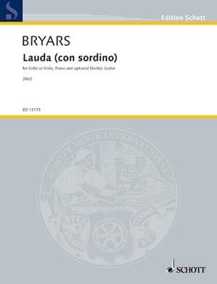 Gavin Bryars - Lauda ( Con Sordino) - Partition - di-arezzo.fr