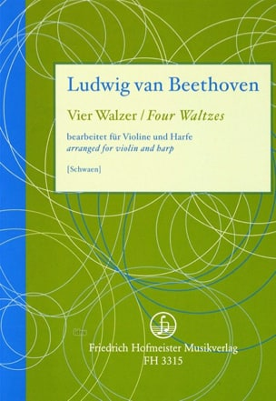 BEETHOVEN - 4 Waltzes - Partition - di-arezzo.co.uk