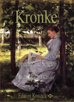 Emil Kronke - Romance et Scherzo Op.200 - Partition - di-arezzo.fr