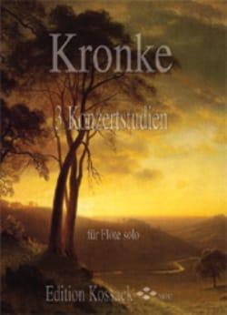 3 Etudes De Concert - Emil Kronke - Partition - laflutedepan.com