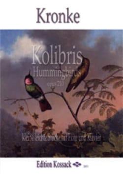 Emil Kronke - Colibris - Flûte et piano - Partition - di-arezzo.fr