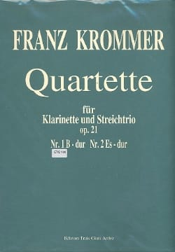 Franz Krommer - Quartette Op. 21 N ° 1 in Bb Maj. - Sheet Music - di-arezzo.com
