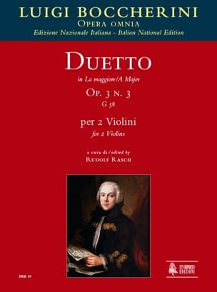 Duetto Op.3 N°3 En la Maj. G.58 BOCCHERINI Partition laflutedepan