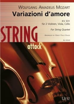 Variazioni d'Amore Kv 331 - Quatuor à cordes - laflutedepan.com