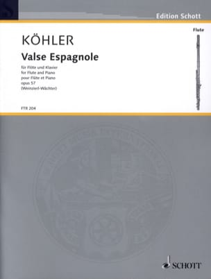 Ernesto KÖHLER - Opera di valzer spagnolo 57 - Partitura - di-arezzo.it