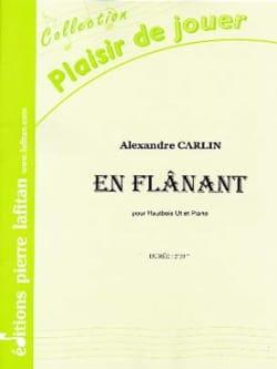 Alexandre Carlin - En Flânant - Hautbois et piano - Partition - di-arezzo.fr
