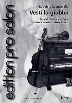 Vesti la Giubba Ruggiero Leoncavallo Partition Trios - laflutedepan