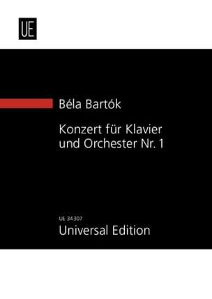 Béla Bartok - Concerto Pour Piano et Orchestre N° 1 - Partition - di-arezzo.fr
