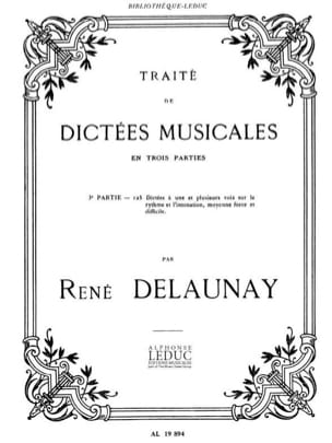Delaunay - Traite De Dictees Musicales - Partition - di-arezzo.fr