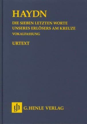 Joseph Haydn - Die Sieben Letzten Worte Unseres Erlösers Am Kreuze - Partition - di-arezzo.fr
