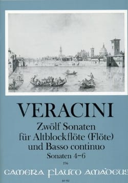 12 Sonates Vol.2 - 4-6 Francesco Maria Veracini Partition laflutedepan