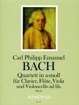Carl Philipp Emanuel Bach - Foursome In The Min. Wq 93 - Sheet Music - di-arezzo.com