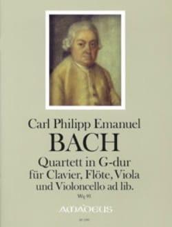 Carl Philipp Emanuel Bach - Quatuor En Sol Maj. Wq 95 - Partition - di-arezzo.fr