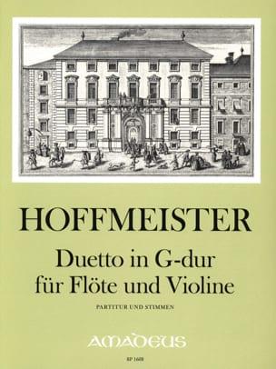 Franz Anton Hoffmeister - Duetto En Sol Maj. - Partition - di-arezzo.fr