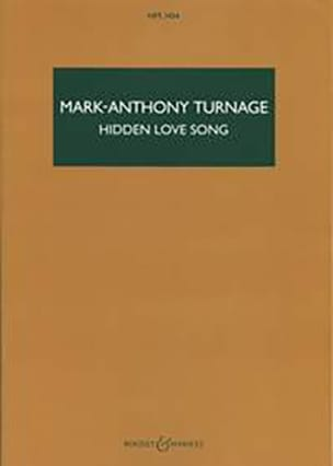 Hidden Love Song - Mark-Anthony Turnage - Partition - laflutedepan.com