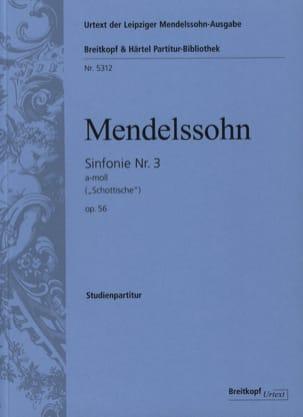 MENDELSSOHN - Symphonie N° 3 Opus 56 En la Min. - Partition - di-arezzo.fr