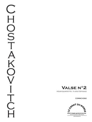 CHOSTAKOVITCH - Valse N°2 extraite de la Suite de Jazz n°2 - Partition - di-arezzo.fr